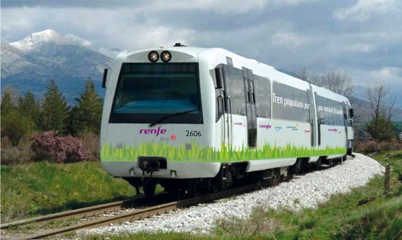 Renfe inicia os testes de Comboio de passageiros de GNL em Espanha